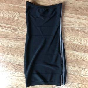 bebe bandage black strapless dress